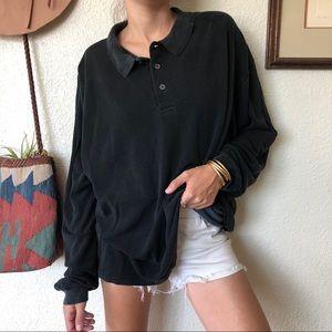 Vintage 90s Oversize Silk Dad Shirt